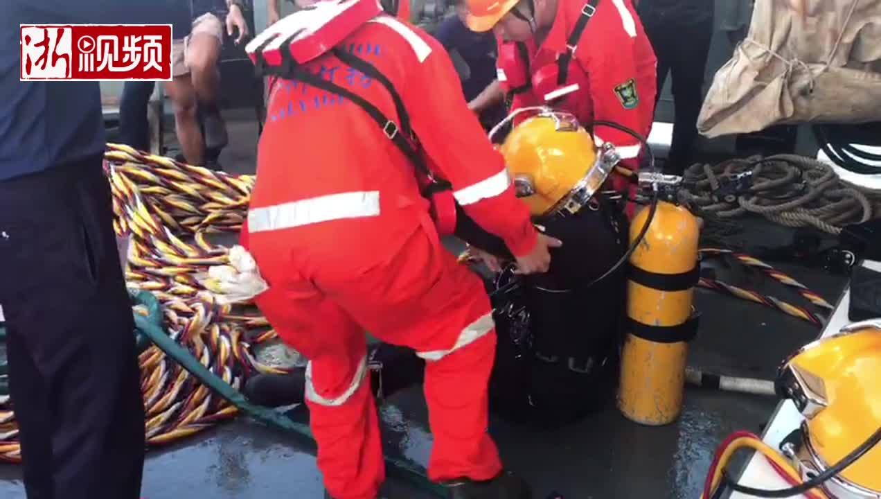 普吉岛游船倾覆事故救援现场