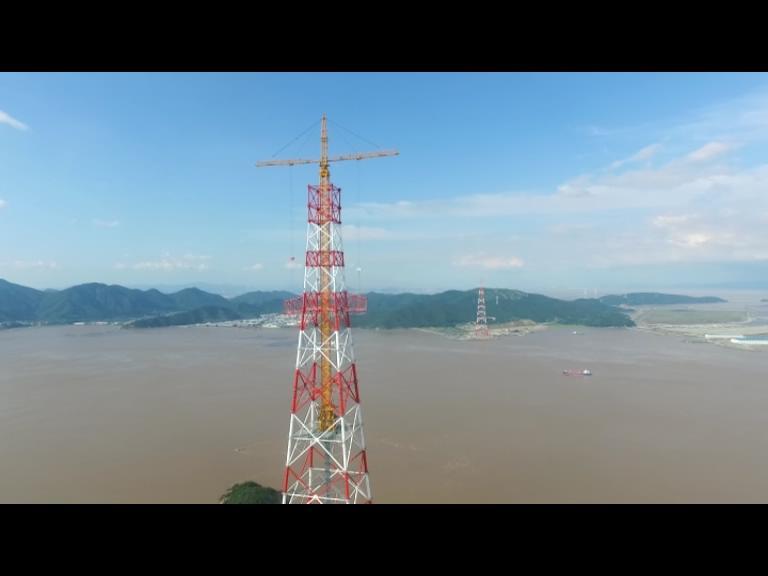 舟山380米世界第一输电高塔