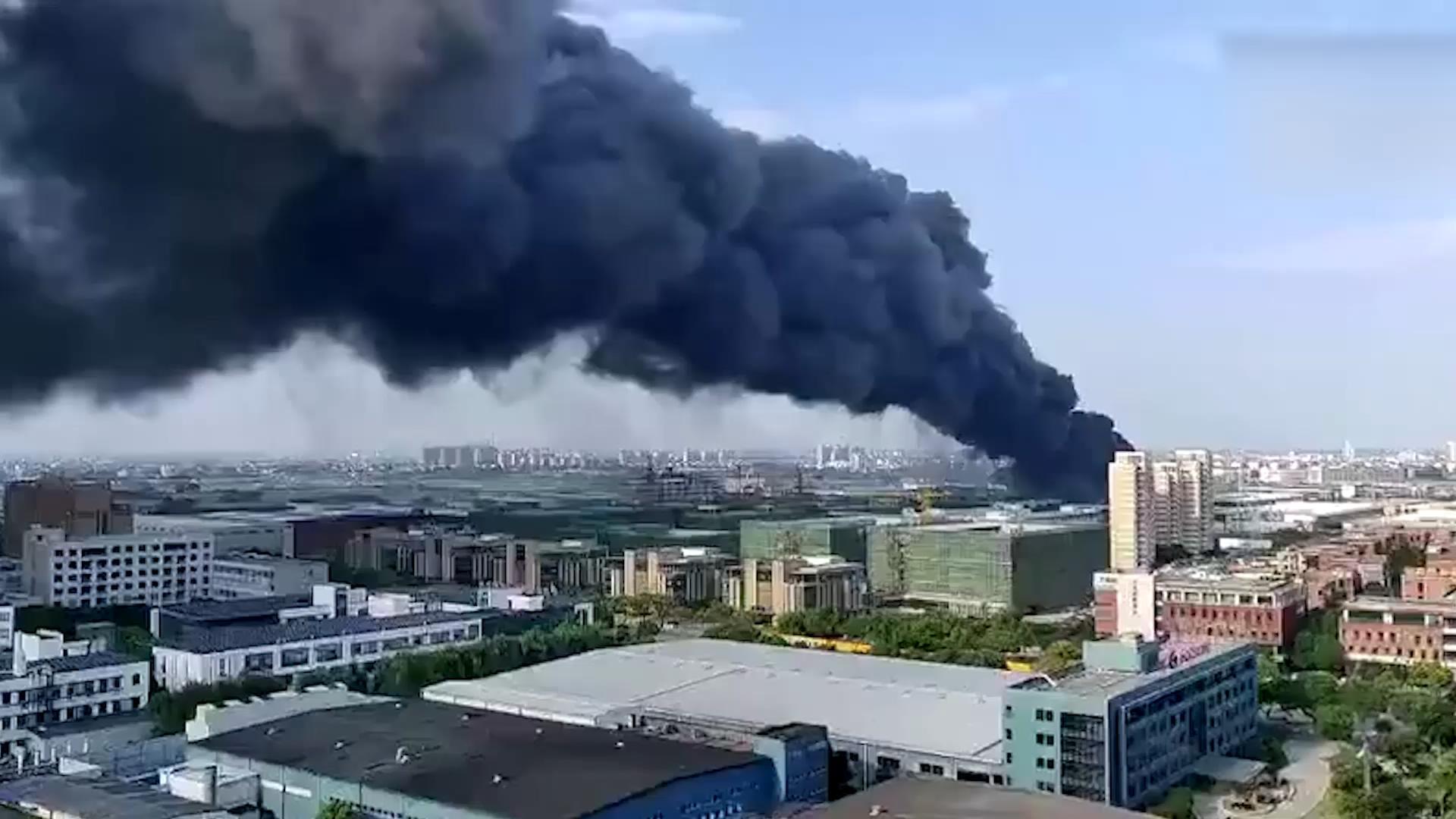 昨傍晚嘉兴一工厂突发火灾 无人员伤亡