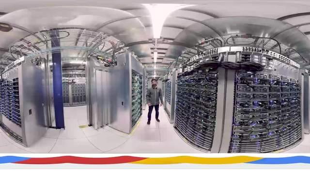 """VR视频丨体验谷歌数据中心,看""""最强大脑""""如何保障数据安全?"""
