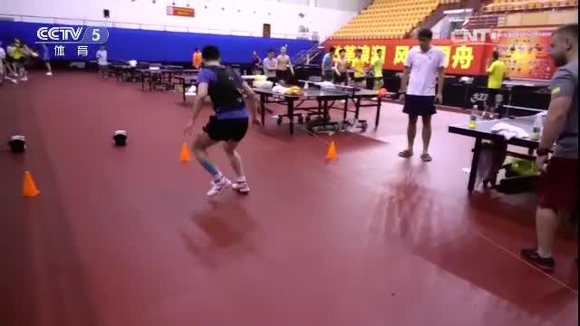 备战东京 中国男乒加强体能训练