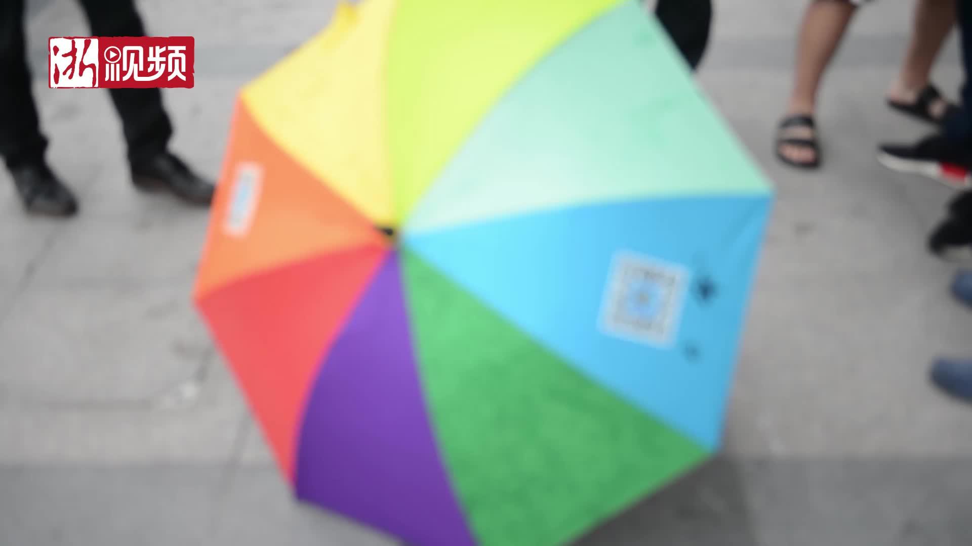 杭州共享雨伞重装上线