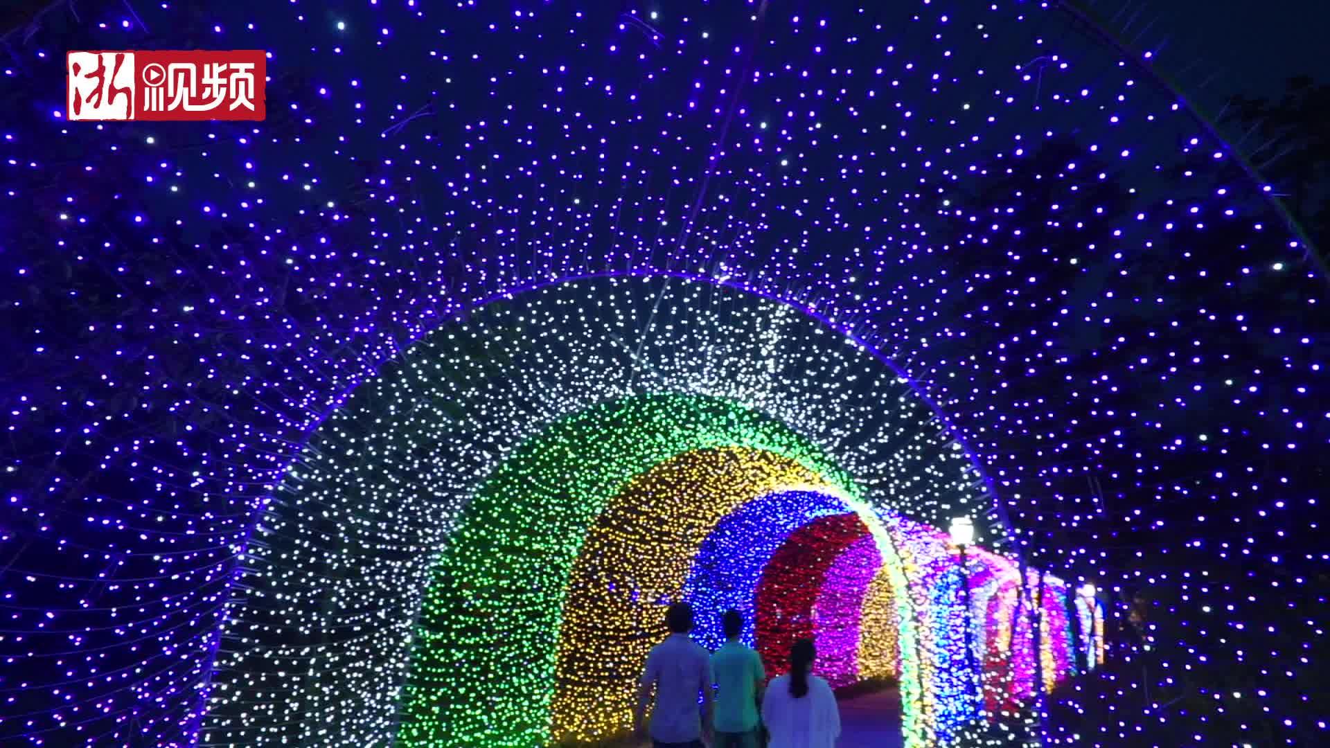 """惊艳!杭州湾边3000万颗""""星星""""点亮夜空"""