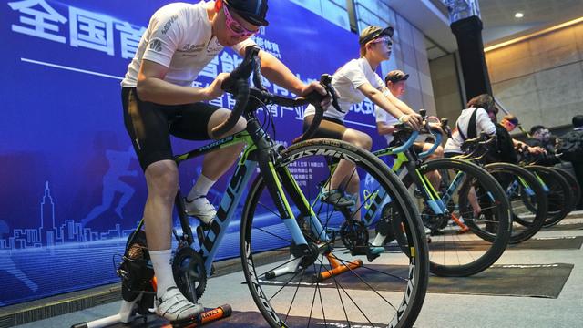 骑行原来也能这样玩!黑科技亮相全国首届智能体育大赛