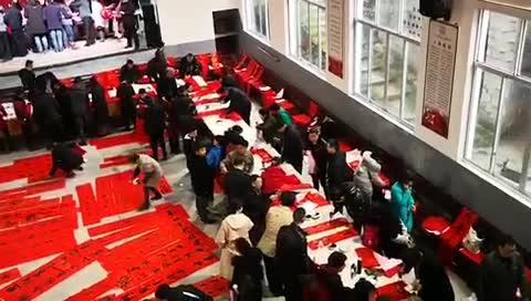 百名书法家送福写春联进山乡 缙云桃花岭村翰墨飘香