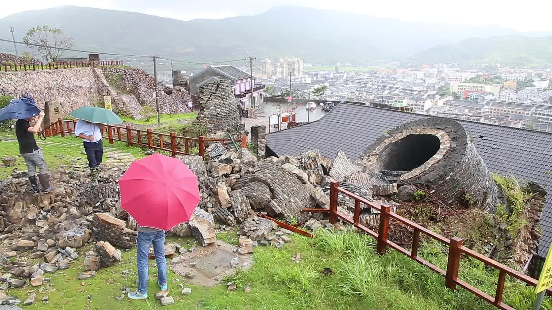 """台风""""玛莉亚""""登陆威力惊人!22米高文物顷刻被毁"""