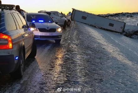 中国旅游大巴在冰岛发生车祸