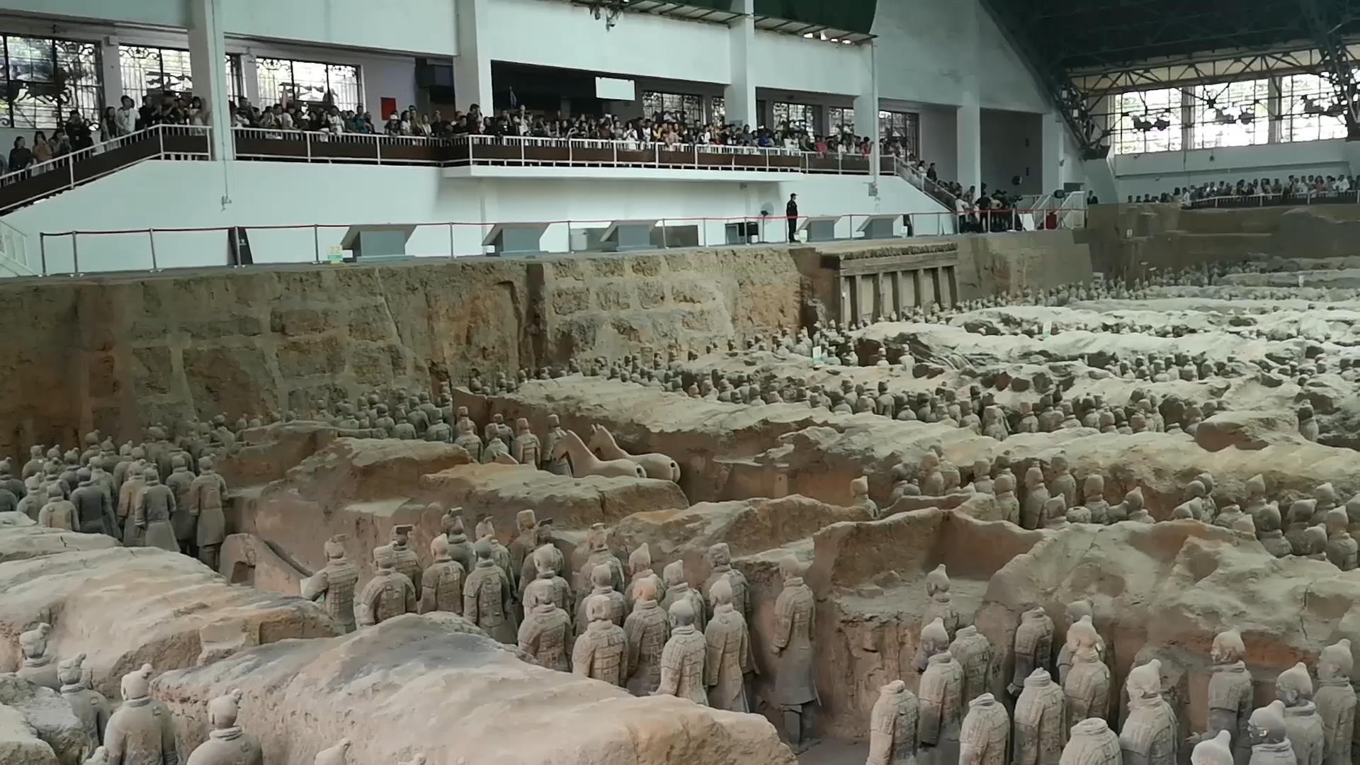 秦始皇兵马俑博物馆游客增多