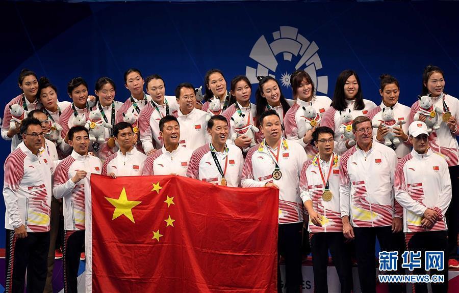 雅加达亚运会:女子水球五战全胜 中国队成功卫冕